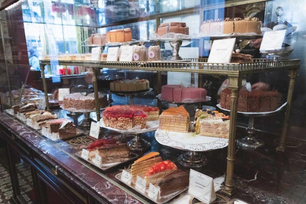 cake case at Demel