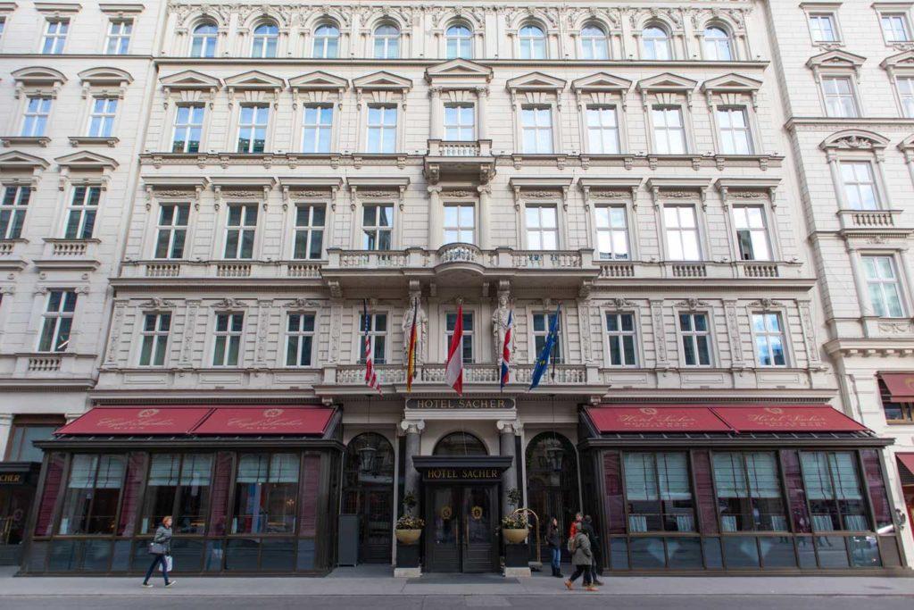 The Hotel Sacher in Vienna