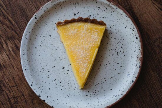 slice of tarte au citron