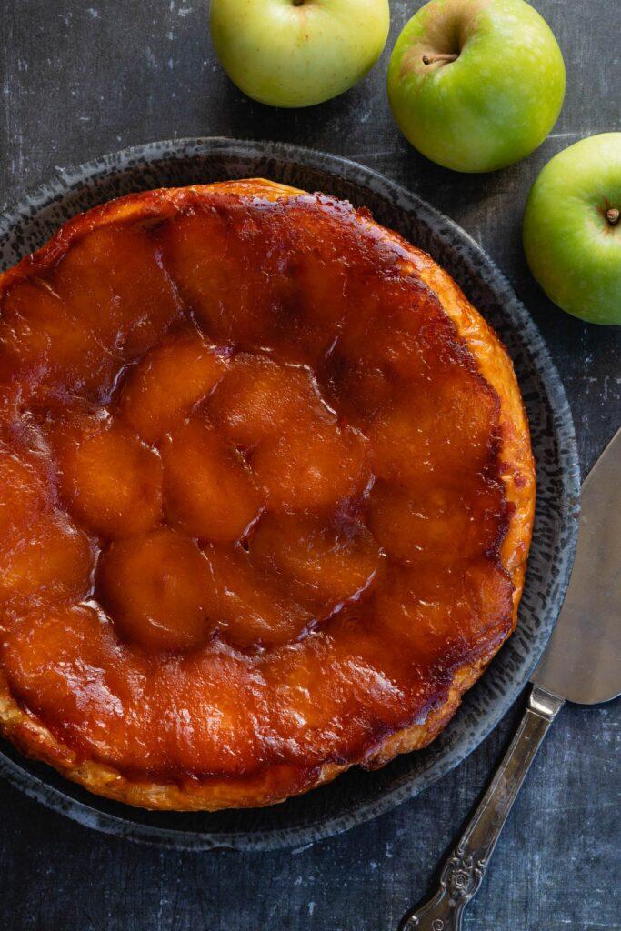french tarte tatin ready to serve