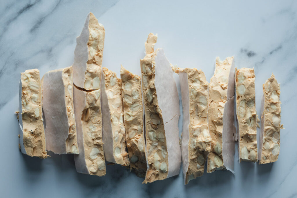 shards of turron de alicante, hard almond nougat