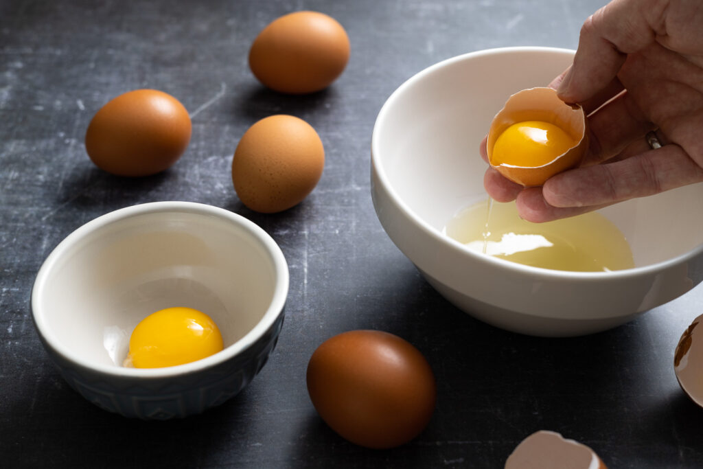 separating the eggs